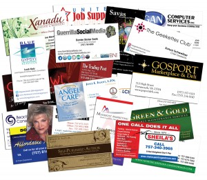 photo of samples of premium business cards