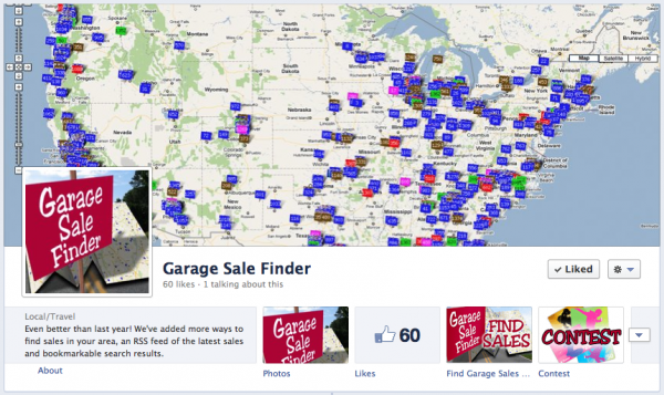 Garage Sale Finder Facebook Timeline Cover Photo