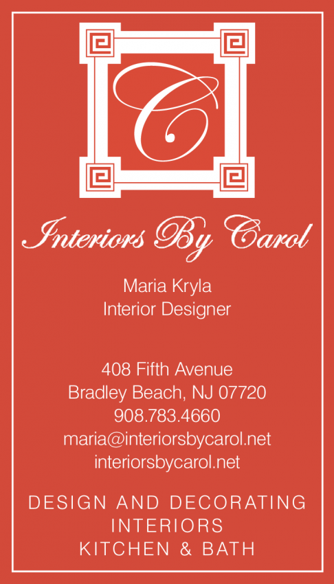 Interiors by Carol Business Cards