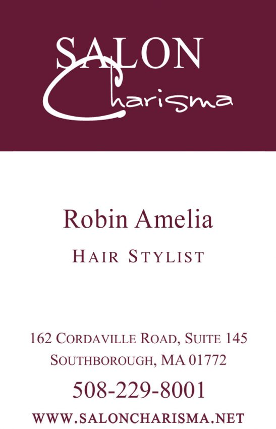 Salon Charisma Business Cards