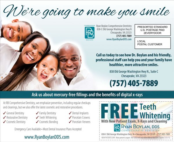 Local Dentist Marketing Postcard