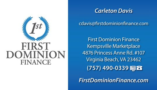 First Dominion Finance Business Cards