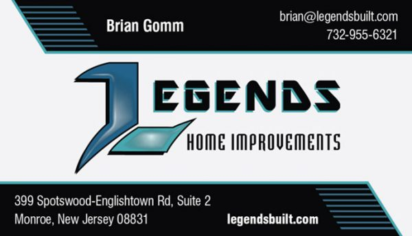 Legends Home Improvements Business Cards