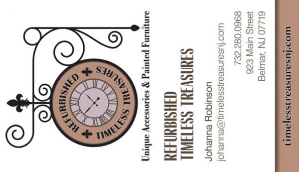 Refurbished Timeless Treasures Business Cards