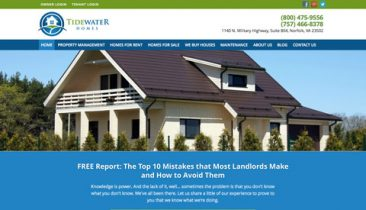 Web sites cdg marketing web design for Tidewater homes llc