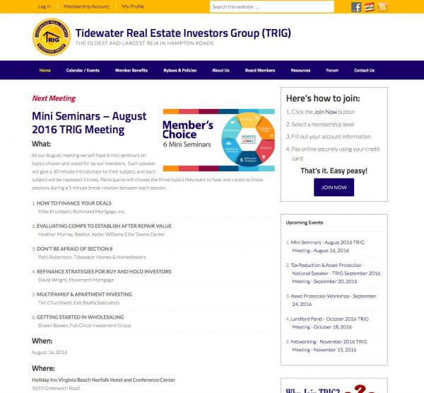 Tidewater Real Estate Investors Group (TRIG)