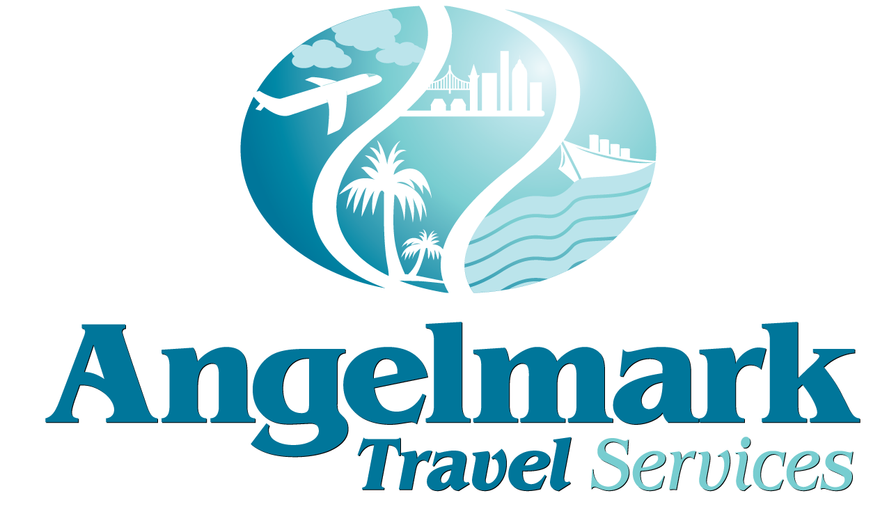 angelmark travel services logo design design portfolio