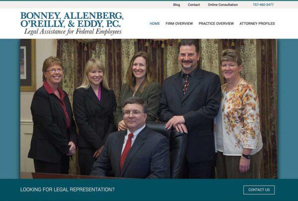 Bonney, Allenberg & O'Reilly, a Virginia Beach law firm Website
