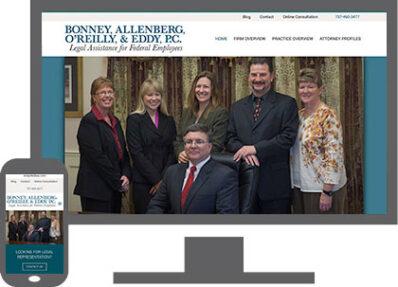 desktop and mobile responsive website for virginia beach attorneys