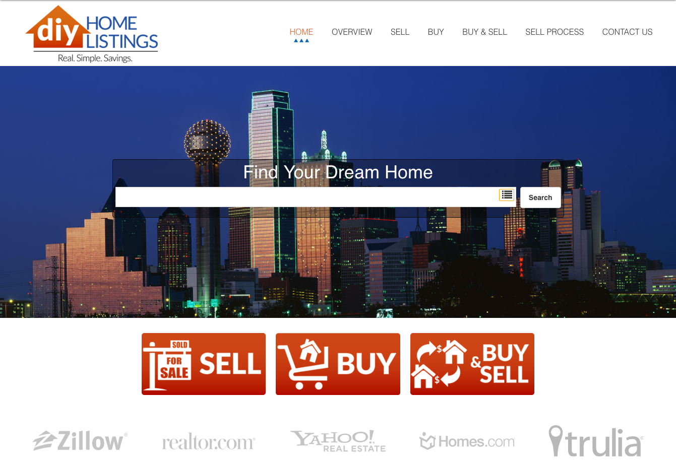 diy homelistings website portfolio web sites cdg marketing a custom real estate website for a regional audience in the austin dallas parts of texas in addition to idx integration it includes custom calculators