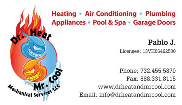 Dr Heat Business Cards