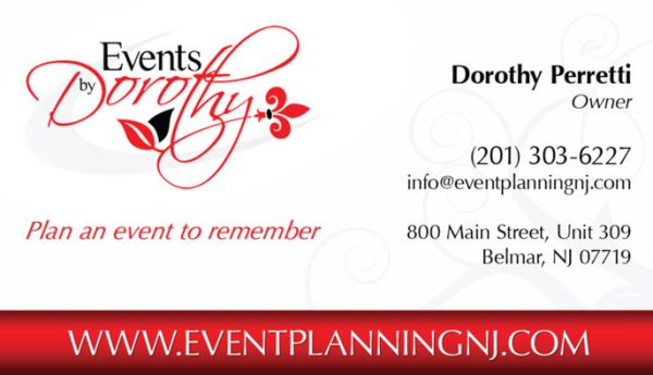 Events by Dorothy Business Cards