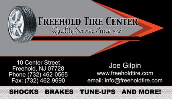 Freehold Tire Center Business Cards