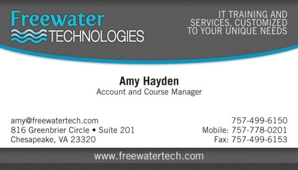 Freewater Tech Business Cards