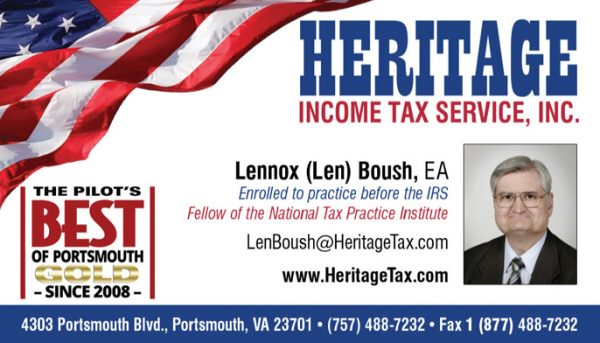 Heritage Tax Business Cards