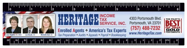 Heritage Tax Magnetic Ruler