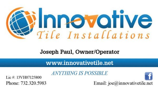 Innovative Tile Installations Business Cards
