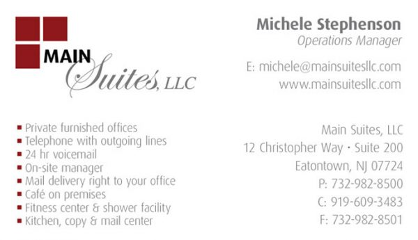 Main Suites LLC Business Cards