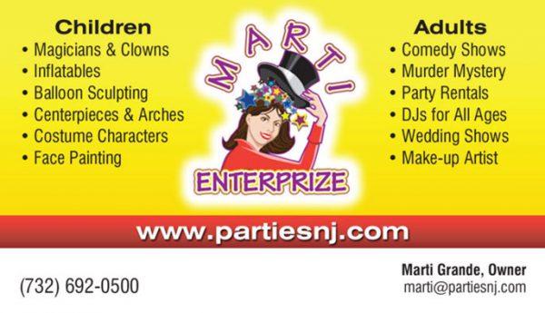 Marti Enterprize Business Cards