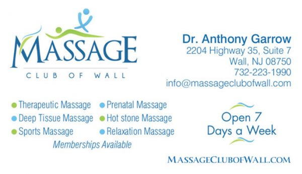 Massage Club Business Cards