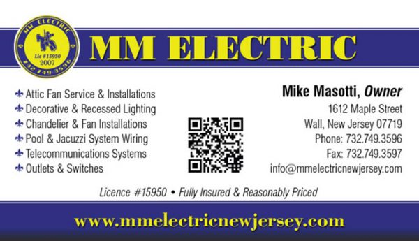 MM Electric Business Cards