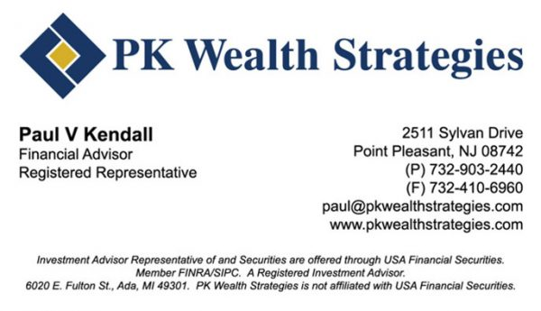 PK Wealth Strategies Business Cards