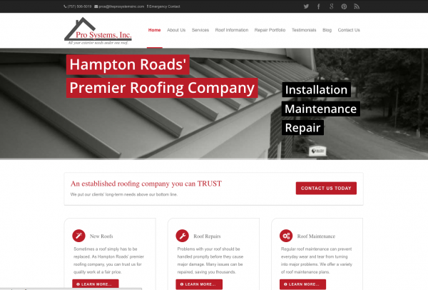 Pro Systems Roofing – Virginia Beach