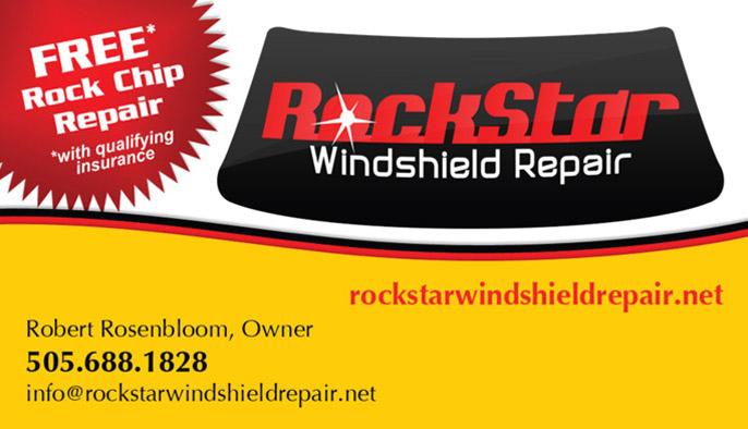 rockstar windshield repair business cards