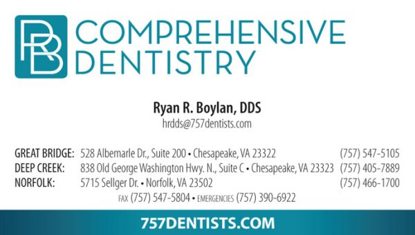 RB Comprehensive Dentistry Business Cards