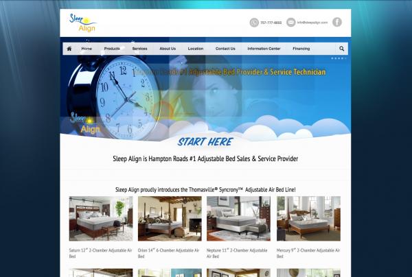 Sleep Align Website