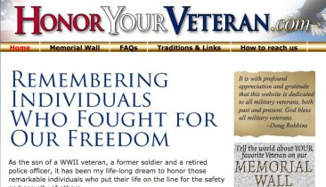HonorYourVeteran_com_Website