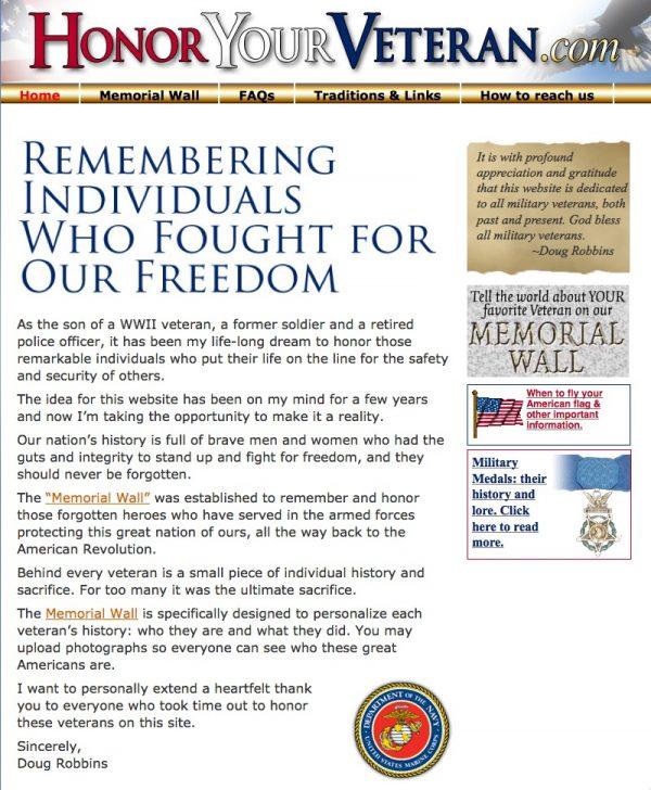 Honor Your Veteran