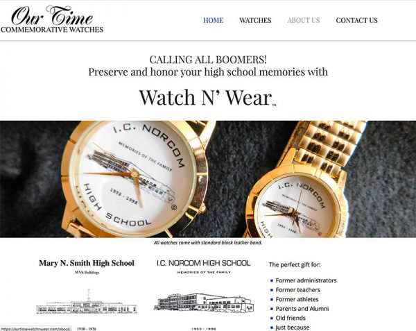 Website selling watches from old Tidewater high schools