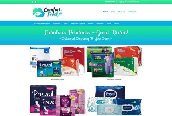 Comfort Fresh Ecommerce Website